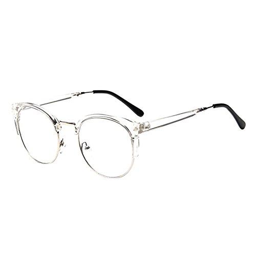 Deylaying Persönlichkeit Cat Eye Groß Rahmen Eyewear Kurz Entfernung Kurzsichtig Kurzsichtigkeit Brille Blau Licht Filter Linsen (Stärke -1.5, Transparent) (Diese sind nicht Lesen Brille)