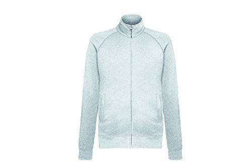 Fruit of the Loom Herren Sweatshirt Lightweight Sweat Jacket Grau (Heather Grey 94)