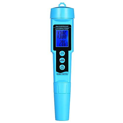 KKmoon Professional Medidor de pH/ORP/TEMP 3 en 1 Detector de agua multiparamétrico LCD digital Trimétrico Multifunción Monitor de calidad del agua Probador de calidad del agua multiparamétrico