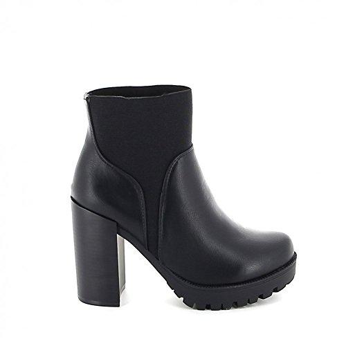 Boots à plate-forme crantée Noir