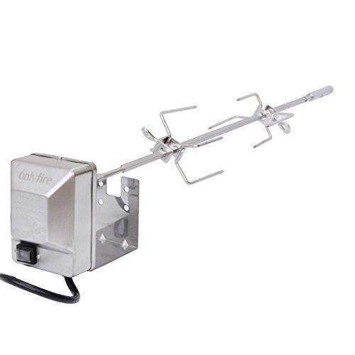 Onlyfire Le kit de rôtissoire en acier inoxydable résistant s'adapte aux grils à gaz Weber Genesis II et Genesis II LX 200 et 300 Series