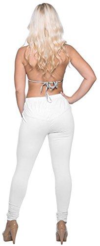 La Leela Baumwolle eins und plus size Ebene dehnbar Frauen Leggings weißer Rauch