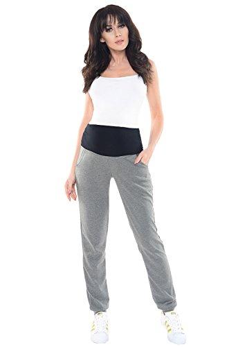 Winter Guide Pants (Purpless Damen Schwangerschafts Jogginghose Umstandshose Schwangerschaftshose mit Elastischer Bauchband Umstandsmode 1321 (38, Dark Gray Melange))