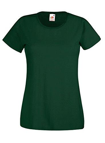 Fruit of the Loom - T-shirt - Femme vert bouteille