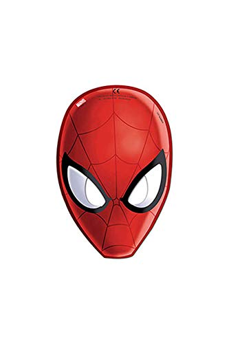 Procos 85179 - Mascarillas Papel Ultimate Spider Man, 6 unidades, rojo