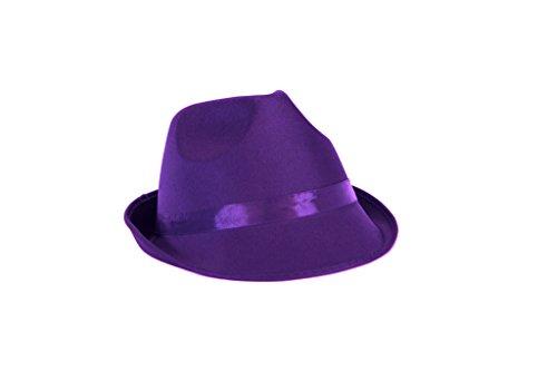 Willy Wonka Kostüm Violett - Ankleiden Party Kostüm FEDORA Hut (lila)