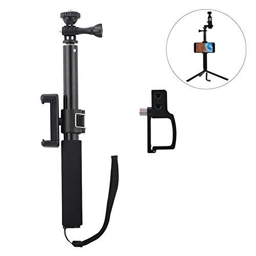 Wonderfulwu bastone per selfie in lega di alluminio, lunghezza regolabile, asta di estensione per dji osmo pocket con clip per telefono