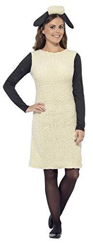Für Kostüm Schaf Erwachsene - Smiffy's 20605S - Shaun das Schaf Kostüm mit Dress und Stirnband
