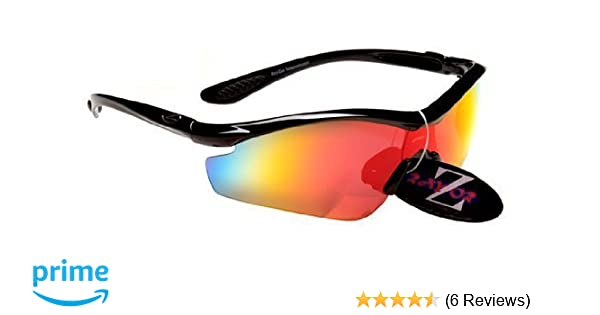 6719ab4377 Rayzor Professional Lightweight UV400 Black Sports Wrap Cycling Sunglasses
