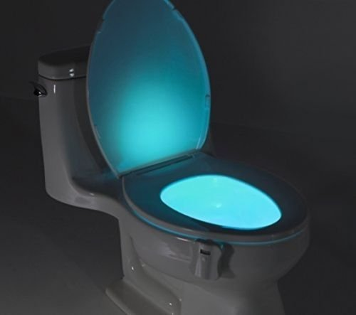 eTTg  Motion Activated / Light Sensitive Automatic LED Toilet Nightlight Motion Sensor Bathroom Lamp for Any Toilet Battery-Operated Night Light(8 Color)