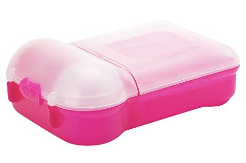SMASH Nude Food Movers Mini Müll Gratis Brotdose, Plastik, Rose, 23.5 x 17 x 8 cm