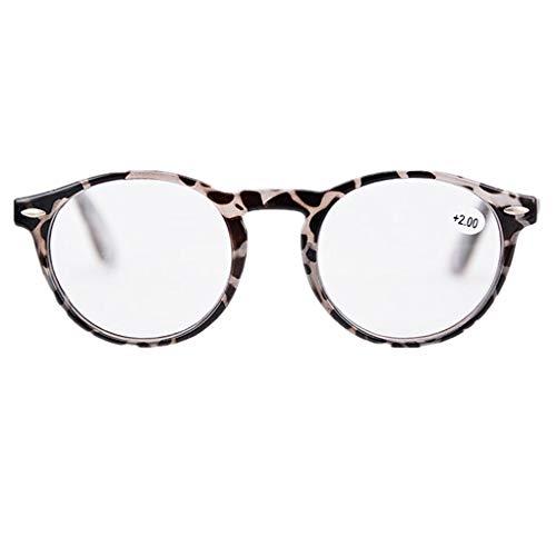 BABAYU Lesebrillen Damen Herren Retro Arbeitsplatzbrille Gläser FedernScharnier Brillen Vollrandbrille Mode Große Lesehilfe Augenoptik Qualität