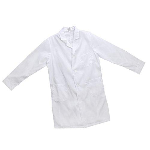 Gazechimp Laborkittel in mehreren verschiedenen Größen Berufsbekleidung Labormantel Arzt Kranken schwester Uniform - Weiß, (Uniform Ärzte)