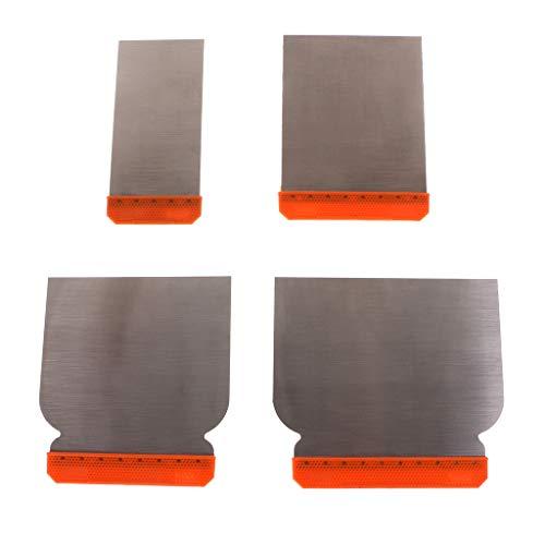 JOYKK 4Pieces Carbon Steel Putty Kit Langlebiges Abstreifkitt-Reinigungs-Füllwerkzeug - Grau & Orange