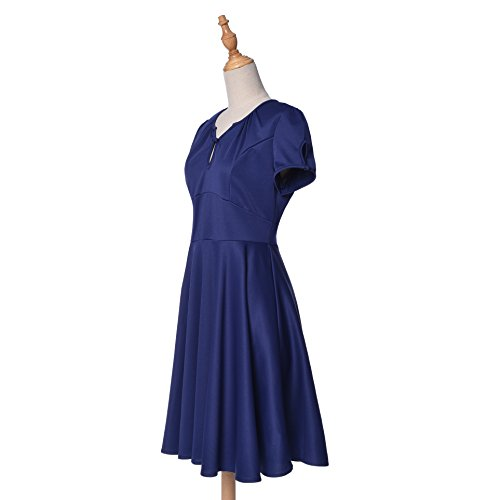 Blooming Jelly - Robe - Trapèze - Manches Courtes - Femme Bleu