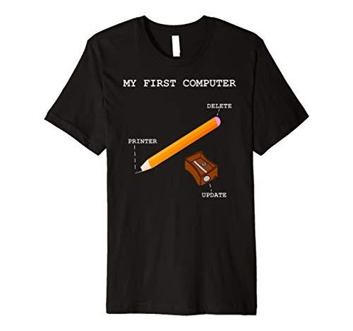 Computer Pc Drucker Rechner Schreiben Tshirt