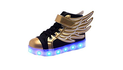 Acme--Zapatillas-con-luces-LED-de-7-colores-y-alas-unisex