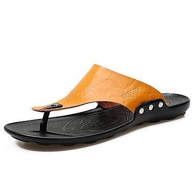 Slippers & amp da uomo;Estate Autunno Comfort pelle bovina all'aperto casual Athletic Tallone piano Bl sandali US8.5-9 / EU41 / UK7.5-8 / CN42