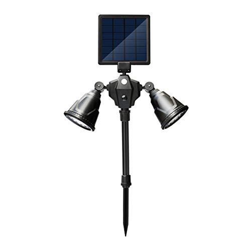 36LED Dual-Head Outdoor Solar Strahler, Ultra-Bright 1000 Lumen Landschaft Wandlampen mit Bewegungssensor, Beleuchtung für Garten Rasen Garage Einfahrt -