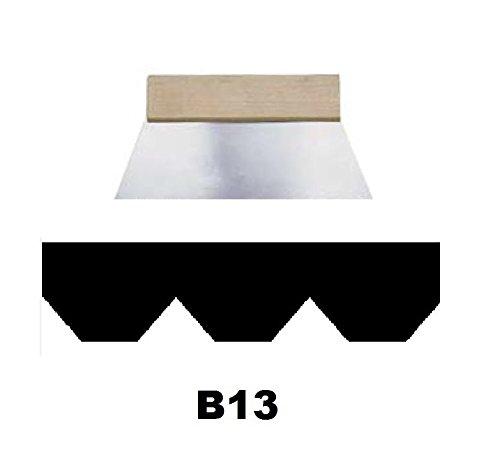Leim Klebstoff Zahnspachtel Bodenleger Normalstahl B13 11.5x7.0mm gezahnt 180mm