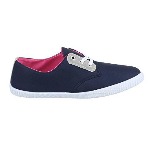 Ital-Design , Chaussures pour les loisirs  femme Bleu - Bleu