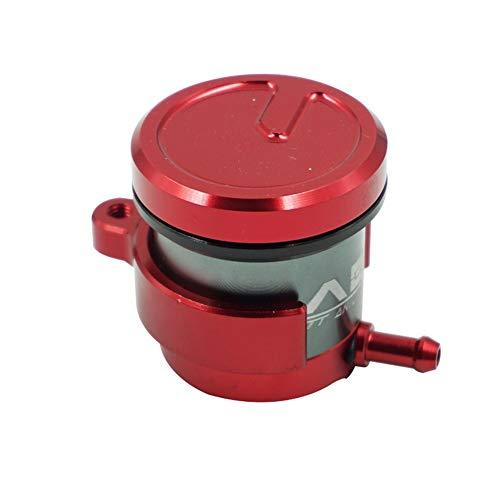 ZSYUN Universal CNC Aluminium Motorrad Bremsflüssigkeitsbehälter Kupplungszylinder Tank Öl Flüssigkeitsbecher for Honda Yamaha Suzuki Motorrad-Ölbecher (Farbe : Rot) (Yamaha-öl-tank)