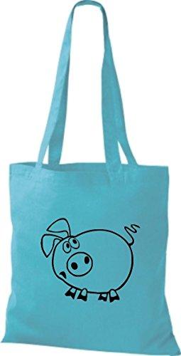 Shirtstown Stoffbeutel Tiere Schwein Sau Ferkel Sky