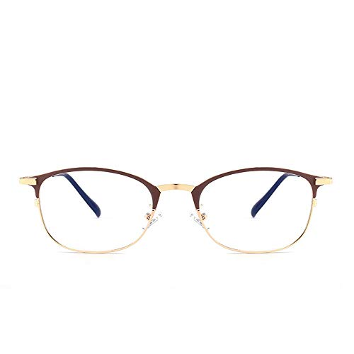 Chenyuan Männer Anti-Blau Brille Half Frame Brillengestell (Farbe : Light Coffee)