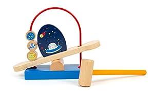 11453 Juego de Martillo Space, Small Foot, Hecho de Madera, Planetas en órbita