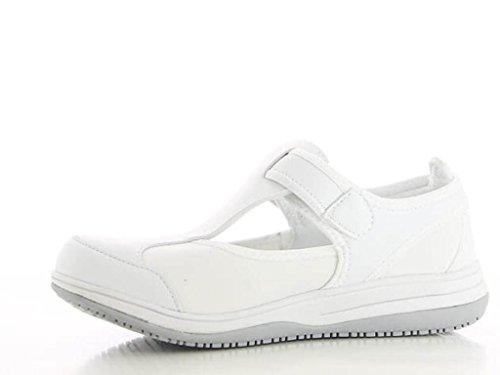 Oxypas Chaussure Médicale Blanche SRC Antistatique en Lycra Candy Blanc