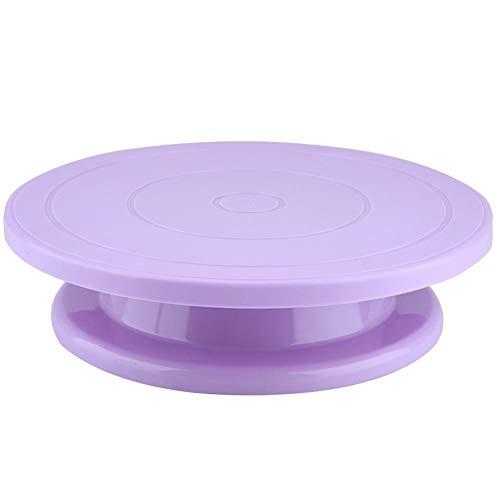 Jadpes Kuchen-Drehscheiben-Dekorations-Werkzeug, drehbarer Stand-Gebäck-Backen-Kuchen, der Stand verziert(#4)