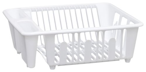 United Solutions SK0001 White Plastic Sink and Kitchen Dish Rack - Mini Plastic Kitchen Dish Rack in White by United Solutions (Mini Dish Rack)