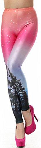 THENICE - Legging - Femme taille unique Aurora Skye neon