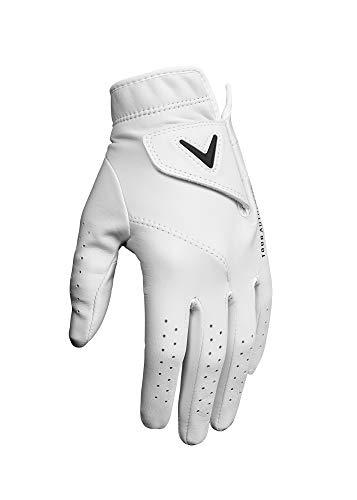 Callaway Golf Damen Golf-Handschuh aus Cabretta-Leder, Gloves, weiß, Small (Hot Leder Damen Handschuhe)