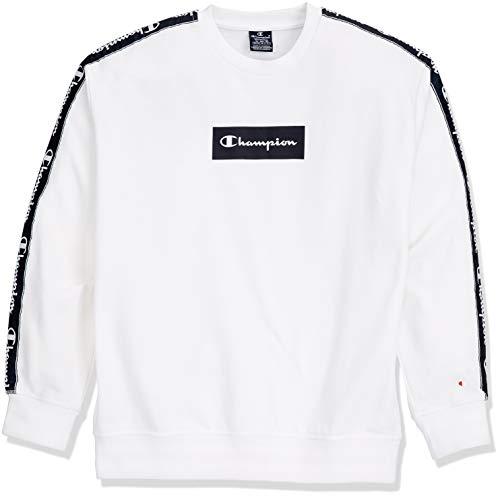 Champion Herren Crewneck Sweatshirt, Weiß (Wht Ww001), Large (Champion Pullover)