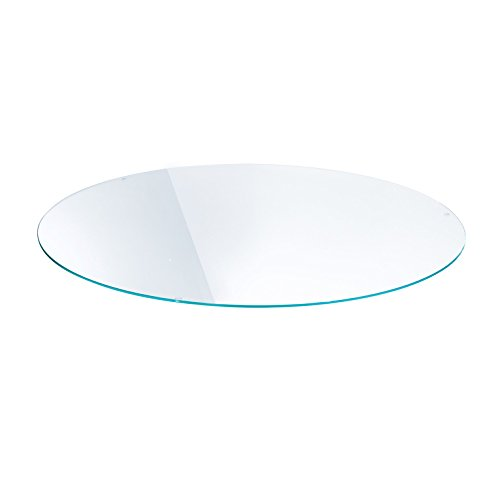 Lounge - Plateau de Table transparent/verre de sécurité/Ø84cm