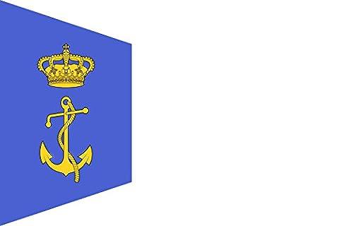 Drapeau Burgee of auxiliary fleet of the Regia Marina | drapeau paysage | 0.06qm | 20x30cm pour Diplomat-Flags Drapeau de Voiture