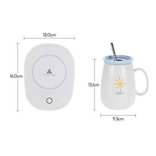 Tragbar Tassenwärmer Kaffeetasse Elektrische Tassenwärmer Automatische Abschaltung für Tee Getränke Kakaomilch Gutes Geschenk für Kaffeeliebhaber (Size : 1) (Glas-krug-set Disney)