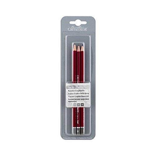 NEU Cretacolor graphit Bleistift–3PK HB 2B 4B