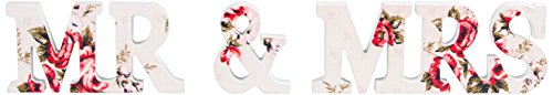 Price comparison product image Sass & Belle Mr and Mrs Floral Lady Antoinette Letter, Multi-Colour