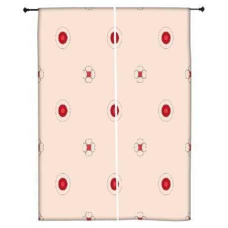 snoogg-macchie-rosse-crema-poliestere-tende-oscuranti-con-pannelli-762-cm-l-x-1524-cm-l-set-da-2