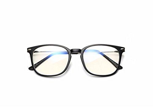Fengh Unisex marco Gafas de Lectura Gafas Gafas de protección para ordenador TV radiación (arena negro)