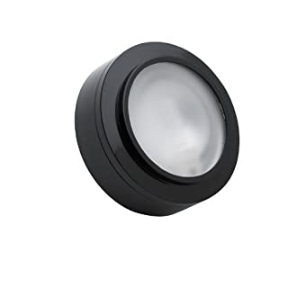 Alico Industries MZ401-5-31 Zee-Puk Collection 1-Light 12V Puck Light, Black Finish with Frosted Lens by Alico Industries