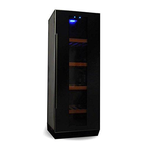 Klarstein Weinkühlschrank Weinkühler Getränke-Kühlschrank (freistehend, Glastür, 270 Liter, Regaleinschübe, Aktivkohlefilter) schwarz (Wein-kühlschrank Mit Schloss)