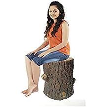Stool Fiber Fiber Material Unbreakable Durable Tree Stool Sitting Stool (Fiber) for Living Room/Home/Office/Outdoor Stool