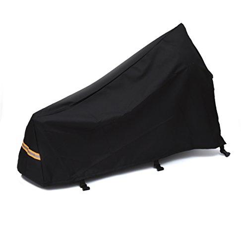 Premium Deichsel-Abdeckung - inklusive praktischer Tasche - universelle Schutzhülle aus hochwertigem 600D Oxford Gewebe mit Reflektor - 3-fach gesicherte Deichselhaube - für optimalen Schutz Ihrer Deichsel - große Ausführung in XL