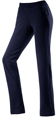 Michaelax-Fashion-Trade - Pantalon de sport - Capri - Uni - Femme Bleu - Blue - Dunkelblau (798)