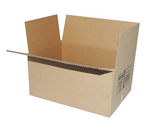 Cajas de Cartón, Cajas de Mudanza y Envíos Postales Pack de 12, Alta Calidad, Resistente-Color Marrón (50x35x30cm)
