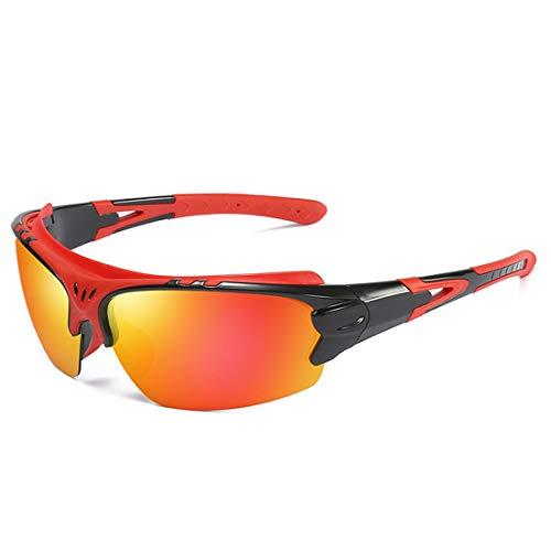 Retro Vintage Sonnenbrille, für Frauen und Männer Stilvolle Sport-Sonnenbrille polarisiert Fahren Radfahren Laufen Angeln Golf UV400 Schutz (Farbe : Orange)