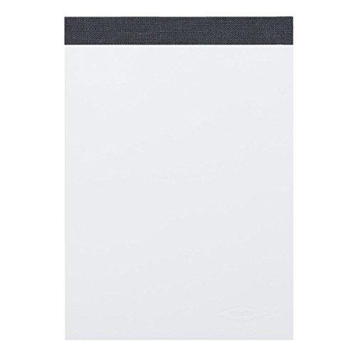 LANDRE 100050639 Notizblock 10er Pack ohne Deckblatt A6 blanko 60 g/m² 50 Blatt schwarz gefälzelt perforiert